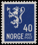 Norway 1926-34 40ø blue unmounted mint.