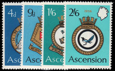 Ascension 1970 Naval Crests unmounted mint.