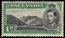 Ascension 1938-53 1d black & green Green Mountain lightly hinged mint.