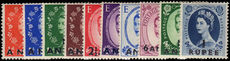 British PO's in Eastern Arabia 1952-54 set mint lightly hinged.