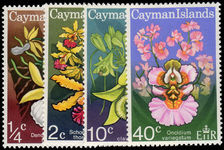 Cayman Islands 1971 Orchids unmounted mint.