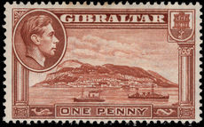 Gibraltar 1938-51 1d perf 13½ wmk upright lightly mounted mint.