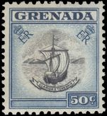 Grenada 1953-59 50c lightly mounted mint.