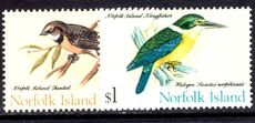 Norfolk Island 1970-71 Birds June 1971 values unmounted mint.