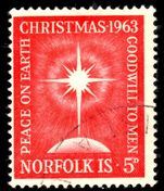 Norfolk Island 1963 Christmas fine used.
