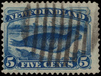 Newfoundland 1887 5c deep blue fine used.