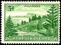 Norfolk Island 1947-59 3d white paper lightly mounted mint.