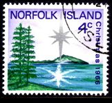 Norfolk Island 1966 Christmas fine used.