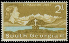 South Georgia 1963-69 2/- Shackletons Cross lightly hinged mint.