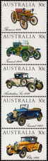 Australia 1984 Veteran and Vintage Cars unmounted mint.