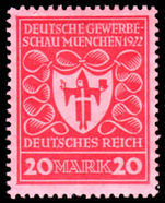 Germany 1922 Munich Exhibition 20m smooth gum lightly mounted mint.