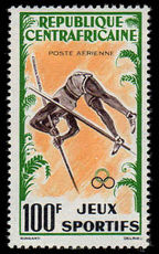 Central African Rep 1962 Pole Vault 100Fr Air unmounted mint.
