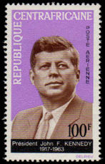 Central African Republic1964 J F Kennedy unmounted mint.