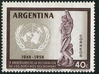 Argentina 1959 Human Rights unmounted mint.