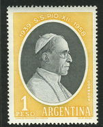 Argentina 1959 Pope Pius XII unmounted mint.
