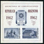 Argentina 1961 Philex Souvenir Sheet unmounted mint.