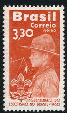 Brazil 1960 Scouting unmounted mint.