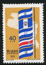 Brazil 1971 Central American Independence Flags unmounted mint.