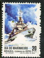 Brazil 1970 Navy Day unmounted mint.