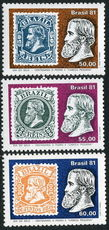 Brazil 1981 Pedro Stamps on Stamps unmounted mint.