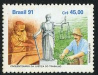 Brazil 1991 Human Rights unmounted mint.