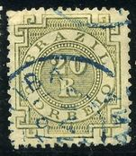 Brazil 1884 20r olive-green fine used