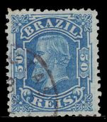 Brazil 1881 50r small Pedro  fine used