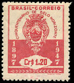 Brazil 1947 Belo Horizonte lightly hinged mint.