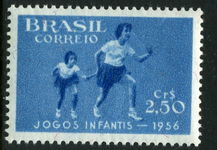 Brazil 1956 Childrens Games Running unmounted mint.