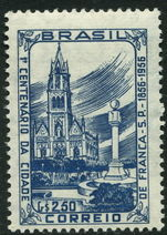 Brazil 1956 Franca Cathedral unmounted mint.