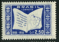 Brazil 1956 Arrival of Marist Brothers 2cr30 lightly mounted mint.