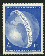 Chile 1964 Alliance For Progress & J F Kennedy Commemoration unmounted mint.