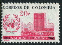 Colombia 1960 UN Day unmounted mint.
