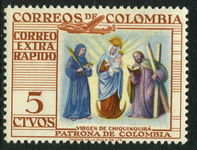 Colombia 1954 Virgin Of Chiquinquira  unmounted mint.