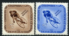 Colombia 1957 Colombian Cycle Race unmounted mint.
