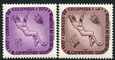 Colombia 1957 Fencing Championship Sport unmounted mint.