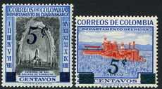 Colombia 1958-59 Provisionals unmounted mint.