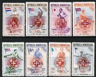 Dominican Republic 1957 Olympic Hungarian Refugees Red Cross set unmounted mint.