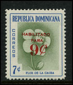 Dominican Republic 1960/61 9c on 7c mahogany flower unmounted mint.