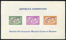 Dominican Republic 1963 Freedom From Hunger souvenir sheet unmounted mint.