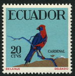 Ecuador 1958 Bird Masked Crimson Tanager unmounted mint.