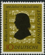 West Germany 1956 Schumann Music Composer unmounted mint.