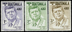 Guatemala 1964 J F Kennedy Part set unmounted mint.