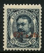Luxembourg 1915 62½c on 87½c slate blue mint