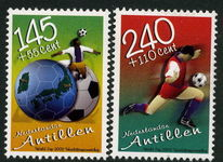 Netherlands Antilles 2002 World Cup Football Top 2 Values unmounted mint