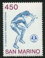 San Marino 1986 World Table Tennis Championships unmounted mint.