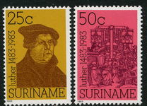 Surinam 1983 Martin Luther set unmounted mint.
